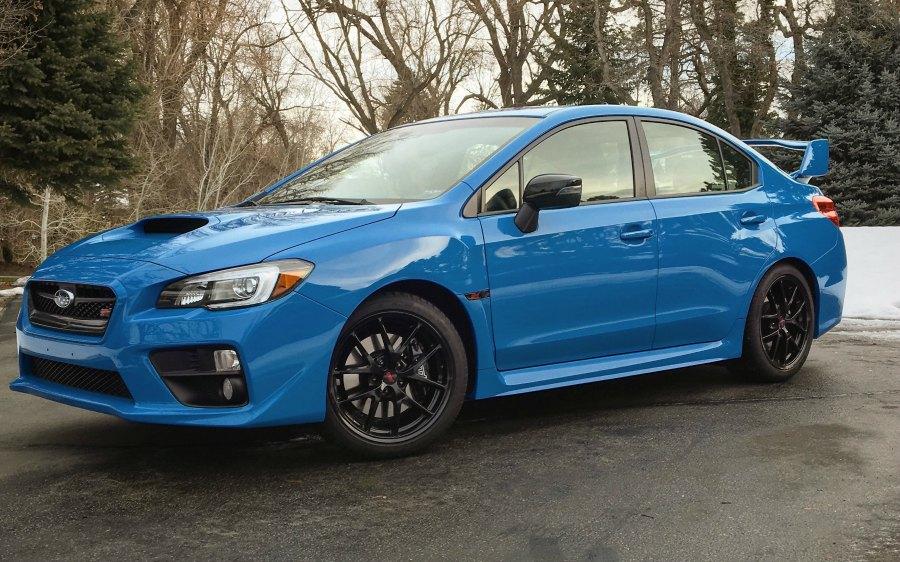 2016 Subaru WRX STI blue